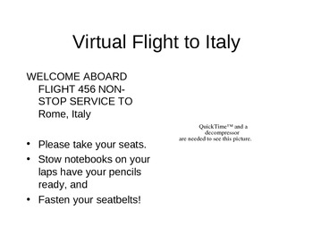 Powerpoint for a Virtual trip to Italy and Ancient Rome