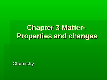 Powerpoint for chemical and physical changes