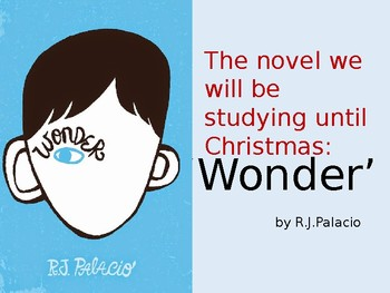 Powerpoint for novel study of Palacio's 'Wonder'