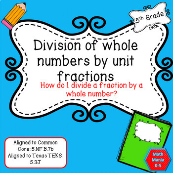 Powerpoint lesson on Dividing Whole numbers by Fractions