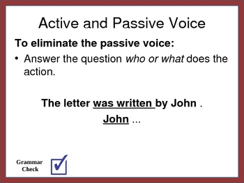 Powerpoint on Active and Passive Voice