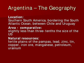 Powerpoint on Argentina