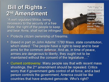 Powerpoint on Bill of Rights and Federalist Presidents