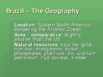 Powerpoint on Brazil