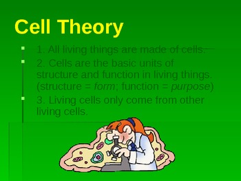 Powerpoint on Cell Theory and Important Scientists