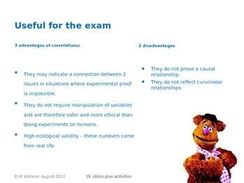 Powerpoint on Correlations (teacher)