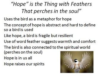 "Powerpoint on Emily Dickinson poem ""Hope"""
