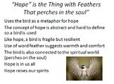 "Powerpoint on Emily Dickinson poem ""Hope"""