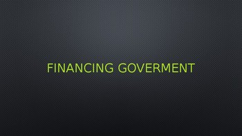 Powerpoint on Financing the Government