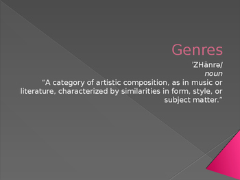 Powerpoint on Literary Genres