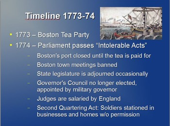 Powerpoint on U.S. History Stamp Act to Declaration