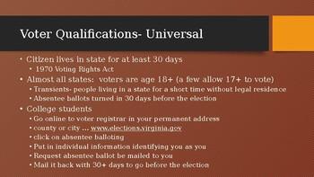 Powerpoint on Voter and Voter Behavior