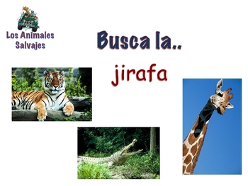 Powerpoint on Wild Animals in Spanish (Vocabulary and Activities)