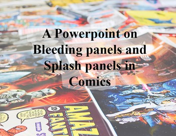 Powerpoint on comic bleed and splash panels