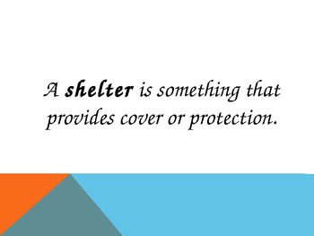 Powerpoint on different types of shelters.