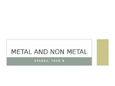Powerpoint on metal and non metal