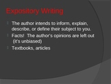 Powerpoint on the Four Types of Writing