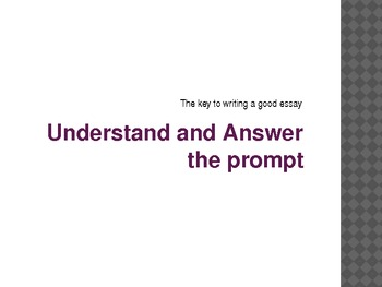Powerpoint on the Fundamentals of Essay Writing