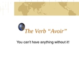 Powerpoint on the present tense of the verb avoir