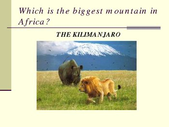 Powerpoint presentation on the Continent of Africa