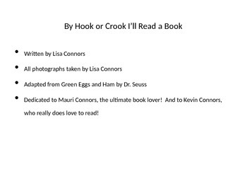 Powerpoint story based on Green Eggs and Ham by Dr. Seuss