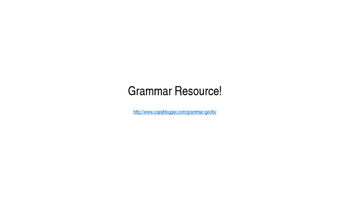 Powerpoint that completes Editing and Revision Lesson