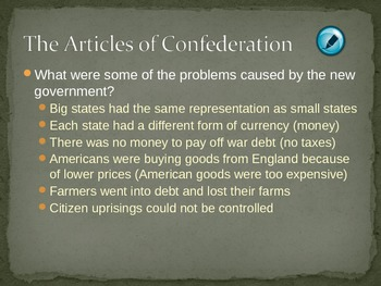 Powerpoint - the Articles of Confederation