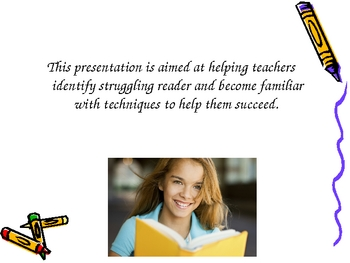 Powerpoint to educate adults on struggling readers