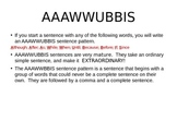 Powerpoint to introduce Jeff Anderson's AAAWWUBBISS