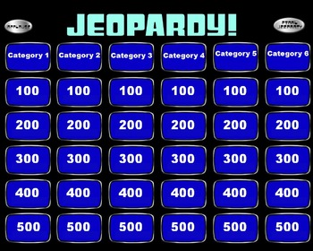 Jeopardy powerpoint smartboard template by mrwatts tpt for Jeopardy template powerpoint 2007