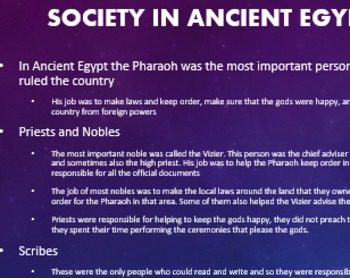 PPTs & activities for Ancient Egypt. Follows Common Core and Essential Standards