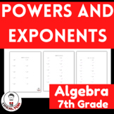 Powers and Exponents|Exponent Rules Discovery Activity|Fun
