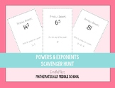 Powers  & Exponents Scavenger Hunt