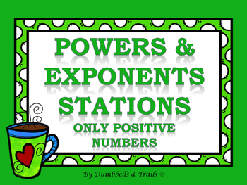 Powers & Exponents Stations (Only Positive Numbers)