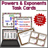 Powers and Exponents Task Cards