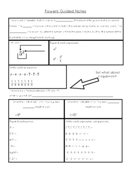 Powers Guided Notes