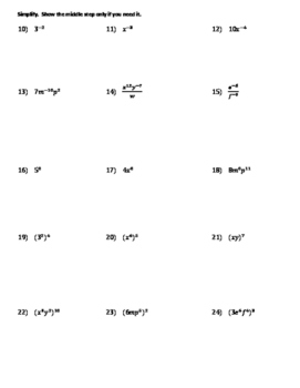 Powers Quiz (2 versions)
