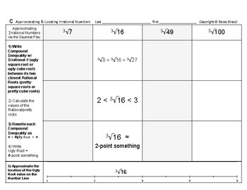 Powers & Roots 02: Approximate & Locate Plotting Irrational Numbers Number Line