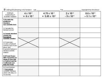 Powers & Roots 17: Adding and Subtracting in Scientific Notation