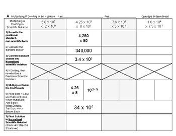 Powers & Roots 18: Multiplying and Dividing in Scientific Notation