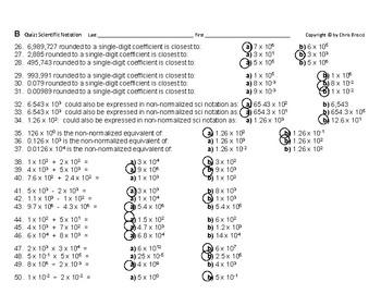 Powers & Roots 20: Quiz Scientific Notation