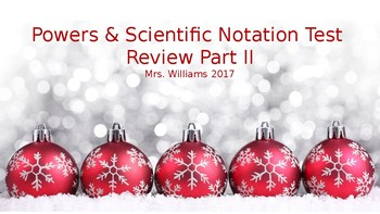 Powers & Scientific Notation