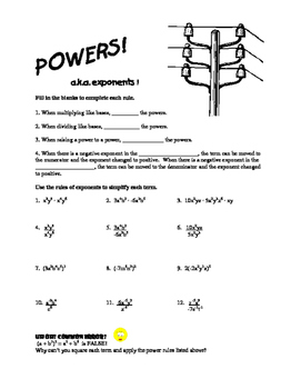 Powers! a.k.a Exponents!