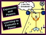Power-Point:  Powers and Exponents with GUIDED NOTES