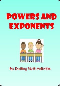 Powers and Exponents Fortune Teller (Cootie Catcher)