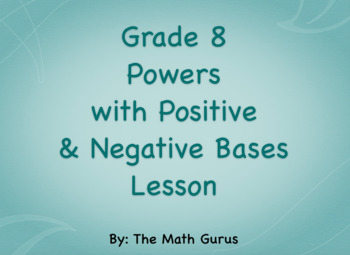 Powers and Exponents Lesson