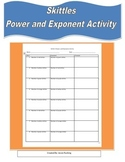 Powers and Exponents- Skittles Activity