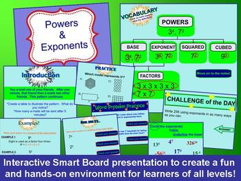 Powers and Exponents Smart Board and Graphic Organizer