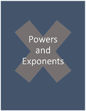 Powers and Exponents Worksheet