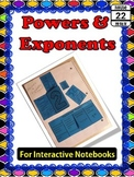 Powers and Exponents {for Interactive Notebooks}